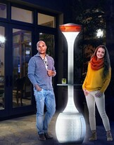 Outdoor Heater and Light gives luxurious warmth to commercial and residential alfresco spaces